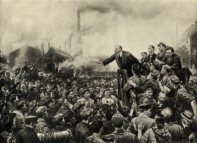 Выступление Ленина на Путиловском заводе 12 мая 1917 года. В. Серов..jpg